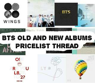 BTS OLD AND NEW ALBUM APRIL BATCH