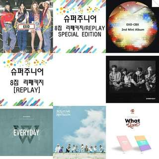 Kpop Album EXO-CBX EXID TWICE WINNER SUPER JUNIOR