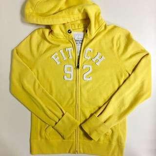 🚚 A&F黃色休閒外套