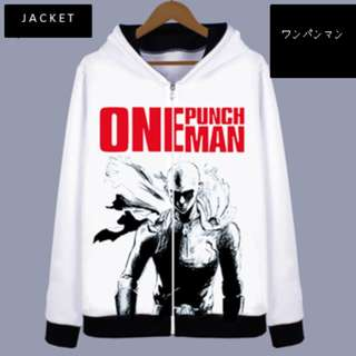 One Punch Man ワンパンマン Anime Graphic Hoodie Jacket Sweater