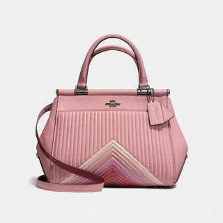 Auth Coach X Selena Grace Bag With Colourblock Quilting