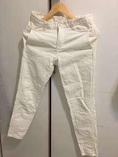 韓國帶回 白色牛仔長褲
