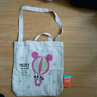 Gracegift Mickey 白色2用布袋