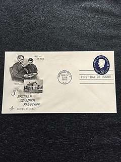 US 1962 5c Lincoln Embossed Stamped Envelope FdC