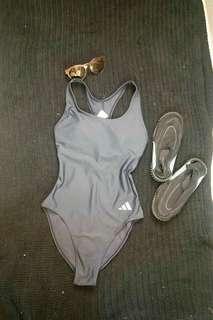 Adidas 1piece suit (gray) medium