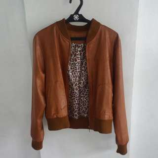 Brown Bomber Jacket Brand New Without Tag