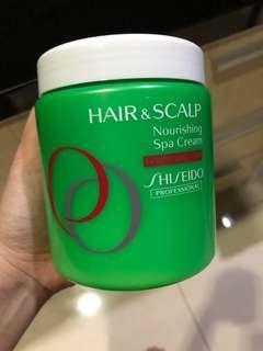 shiseido nourishing spa cream damaged hair