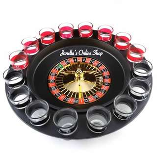 Shot Glass Roulette Drinking Game Set (