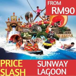Sunway Lagoon Theme Park Tickets (All 6 Parks)