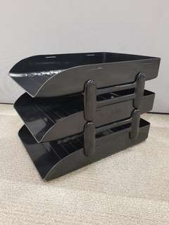 Tiered document trays
