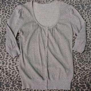 Silver Shimmering Cardigan Jacket