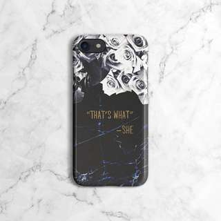 That's What She Said Saphire Marble Roses Phone Case