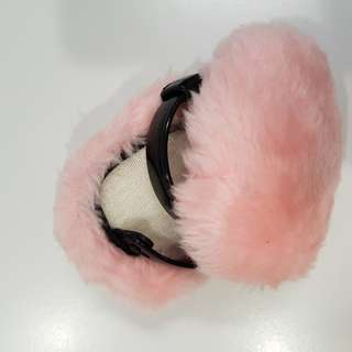Winter adjustable ear muffs- pink