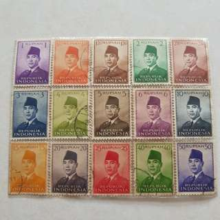 Indonesia 1955 President 15 stamp collection