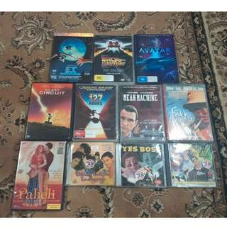 Original DVDs and original Hindustan VCD for sale.