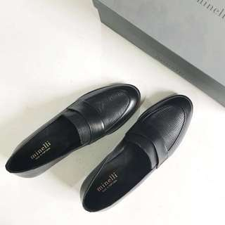Minelli Black Leather Shoes