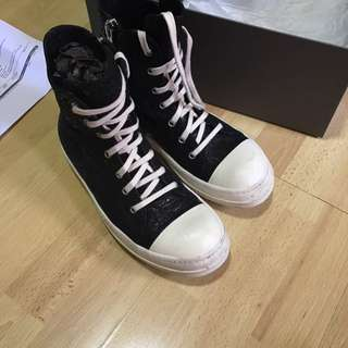 Rick Owens blistered leather Ramones