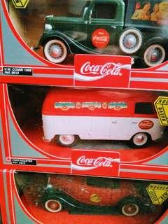 Vintage Coca cola die cast van , truck & car