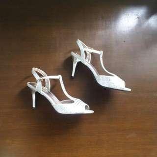 Figlia Silver Open-toe Dress Shoes