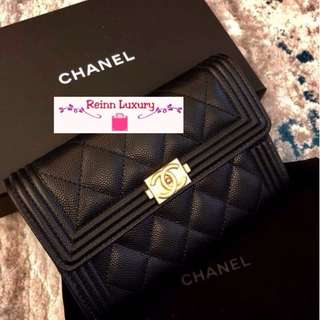 b60414d40aa1 Limited New Preorder Chanel Boy Short Wallet Exclusive From Europe