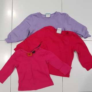Girls sweaters and long sleeve shirt - size 3