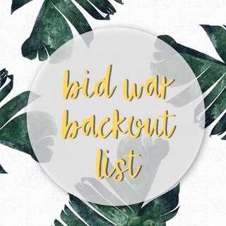 bid war back out list