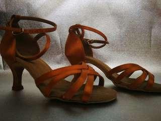 Metallic Rust Colored Ballroom Dancing Shoes
