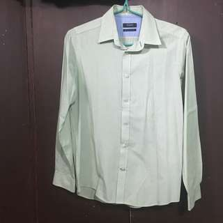 Wharton mint green long sleeves polo