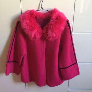 Discount 毛毛外套pink coat