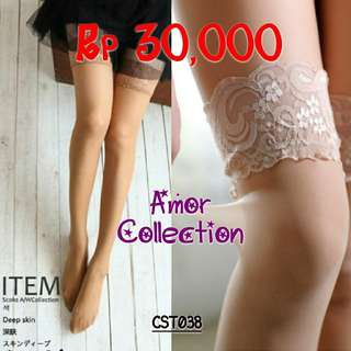 Lingerie seksi stoking cream (CST038) By AMORCOLLECTION