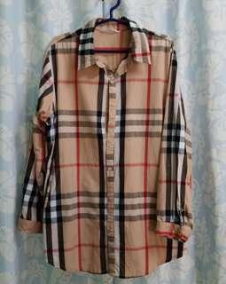 Burberry inspired Boyfriend shirt