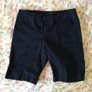 MANGO Basic Dark Blue Shorts