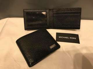Michael Korrs Black Leather Bifold Wallet