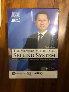 Patrick Liew The Mencius Millionaire Selling System 9 CDs