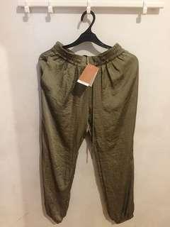 Zara Satin Harem Pants