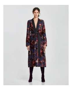 Zara velvet robe jacket BNWT