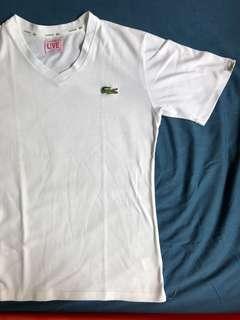 White shirt Lacoste L!ve