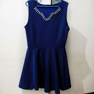 Skater Formal Dress with Pearls