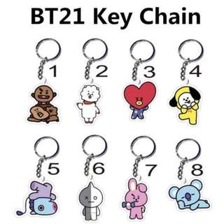 BTS Bangtanseonyeondan Bangtanboys BT21 Keychain Merchandise Characters