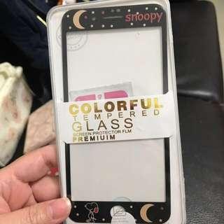 黑夜Snoopy IPHONE7 plus/IPHONE8 plus 玻璃mon貼