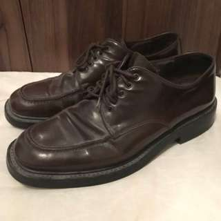Charity Sale! Authentic Pegabo Dress Formal Shoes Real Leather Italian Size 12US MEN pre-loved
