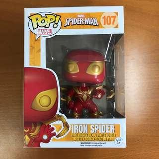 Funko POP Iron Spider Spider-Man (No. 107)