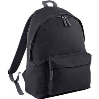 Brand New Plain School Canvas Bag / Back Pack / Backpack / Bagpack