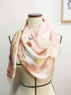 Satin Peach Scarf