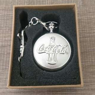 Coca cola antique pocket watch 可口可樂陀錶