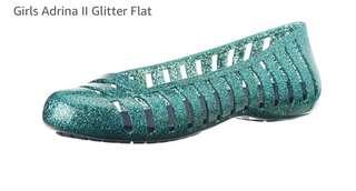 Crocs glitter flats for girls