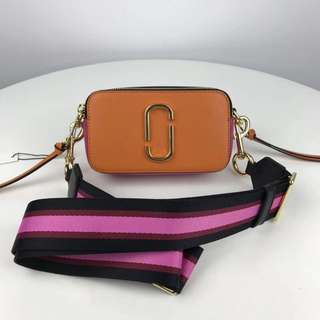Marc Jacobs Snapshot Camera Bag - orange x gold