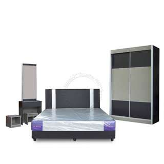 (Clearance) New Bedroom Set with Free delivery