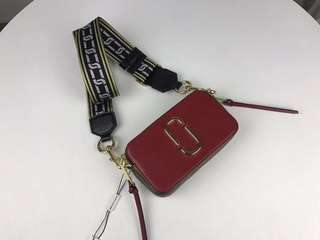 Marc Jacobs Snapshot Camera Bag - maroon x white x bronze
