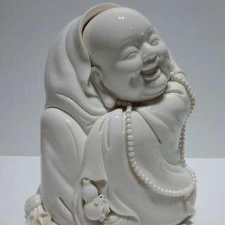 蘇清河大師遺作 -「7吋布袋彌勒」 - 瑩玉紅、孩兒紅